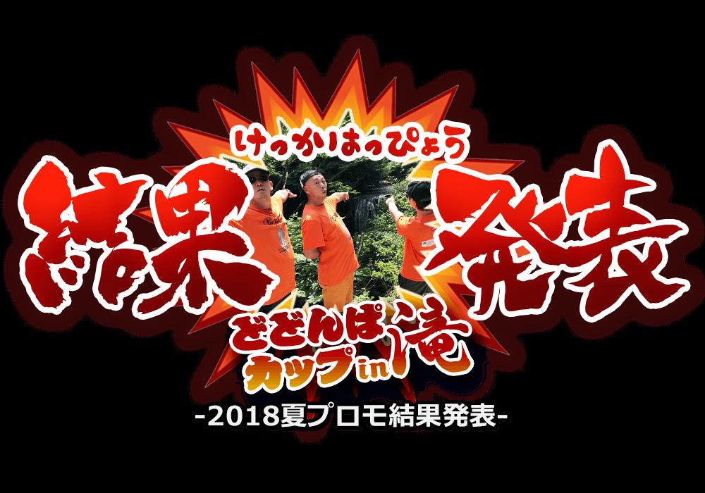 2018年夏プロモ結果発表 - どどんぱカップin滝